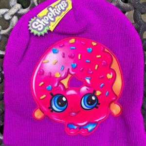 Shopkins Donut Girls Knit Beanie Cap Hat NEW